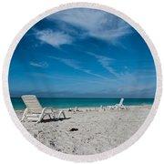 Longboat Key  Round Beach Towel by Betsy Knapp