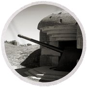 Longues-sur-mer German Battery Round Beach Towel