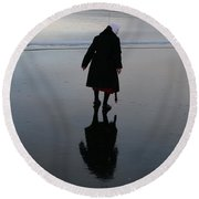 Looking Glass Reflection Round Beach Towel