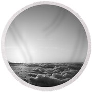 Looking To The Sea Round Beach Towel