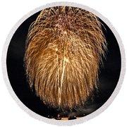 Lopez Island Fireworks 1 Round Beach Towel