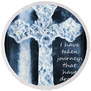 Lord Have Mercy With Lyrics Round Beach Towel