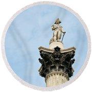 Lord Nelson's Column Round Beach Towel