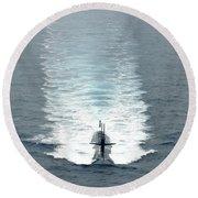 Los Angeles-class Fast Attack Submarine Round Beach Towel