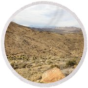 Lost Horse Mine Trail 3 Round Beach Towel