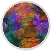 Lost In October Round Beach Towel