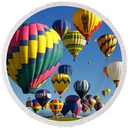 Lots Of Balloons Round Beach Towel