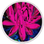 Lotus 5 Round Beach Towel
