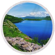 Lough Caragh, Co Kerry, Ireland Round Beach Towel