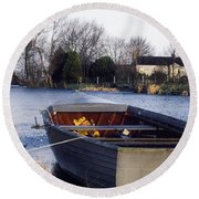 Lough Neagh, Co Antrim, Ireland Boat In Round Beach Towel