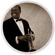 Louis Armstrong S Round Beach Towel