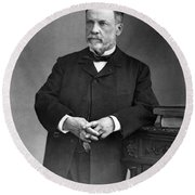 Louis Pasteur, French Chemist Round Beach Towel by Omikron