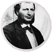 Louis Riel Round Beach Towel