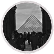 Louvre Archway Round Beach Towel