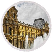 Louvre Round Beach Towel