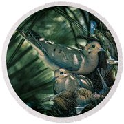 Love A Dove Dove Round Beach Towel