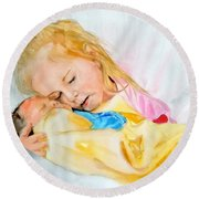 Love At First Sight Round Beach Towel