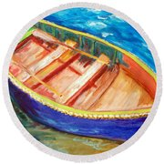 Love Boats Round Beach Towel