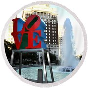 Love Is ..... A Four Letter Word Round Beach Towel