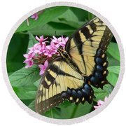 Lovely Butterfly Round Beach Towel