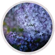 Lovely Lilac Round Beach Towel