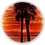 Loving Palms-the Journey Round Beach Towel