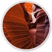 Lower Antelope Canyon, Arizona Round Beach Towel