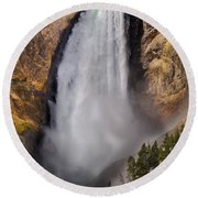 Lower Falls II Round Beach Towel