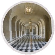 Lower Gallery Versailles Palace Round Beach Towel