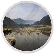 Lower Lake, Glendalough, County Round Beach Towel