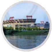 Lp Field Nashville Tennessee Round Beach Towel