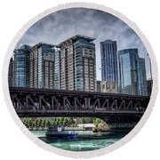 Lsd Lake Shore Drive In Color Round Beach Towel
