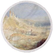 Lucerne From The Walls Round Beach Towel