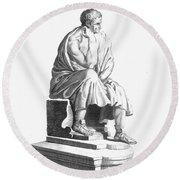 Lucius Annaeus Seneca Round Beach Towel