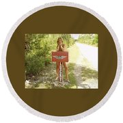 Mailbox 070 Round Beach Towel