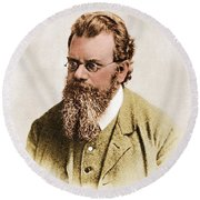 Ludwig Boltzmann, Austrian Physicist Round Beach Towel