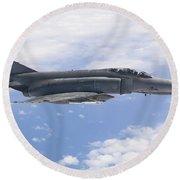 Lufwaffe F-4f Phantom Round Beach Towel