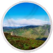 Luggala And Lough Tay, Co Wicklow Round Beach Towel