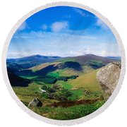 Luggala, Co Wicklow, Ireland Round Beach Towel