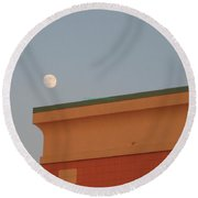 Lunar Perspective Round Beach Towel