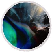 Lunar Radiation Round Beach Towel