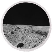 Lunar Surface Round Beach Towel
