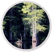 Lunker Lake Round Beach Towel