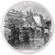 Luxembourg, 19th Century Round Beach Towel
