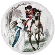 Lydia Darragh, American Patriot Round Beach Towel by Photo Researchers