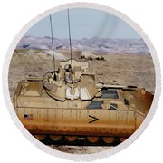 M2 Bradley Fighting Vehicle Round Beach Towel