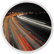 M5 At Night Round Beach Towel