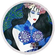 Ma Belle Salope Chinoise No.11 Round Beach Towel