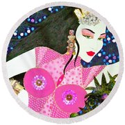 Ma Belle Salope Chinoise No.12 Round Beach Towel