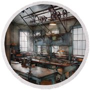 Machinist - Steampunk - The Contraption Room Round Beach Towel